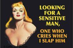 funny women slap men - Dump A Day Retro Humor, Vintage Humor, Retro Funny, Sensitive Men, Funny Jokes, Hilarious, Funny Minion, Tabu, Human Nature