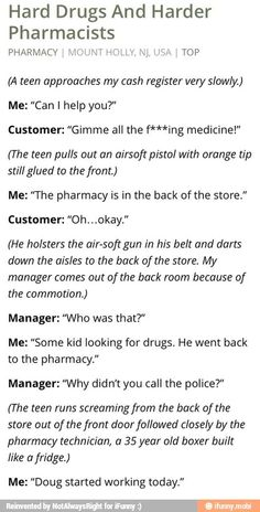 Hard Drugs and Harder Pharmacists