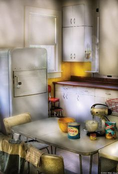 By Mike Savad at Fine Art America. The real way an authentic kitchen really looked, no frills plain. Many a happy pie made and eaten here.