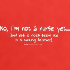 Student nurse problems. I can finally say I graduate next year though....getting closer!!! :))