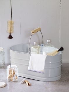 Utility Storage Bucket - cute idea for cleaning items - to take round the house