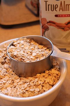 The oats for my sugar free healthy breakfast muffins