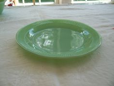 Vintage Anchor Hocking Fire King Jane Ray Jadeite Dinner Plate