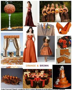 inspirations and ideas for using Brown and orange for your wedding or event