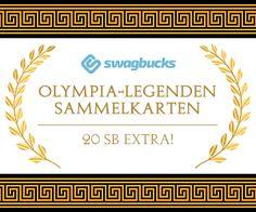 Verdiene einen 20 SB Bonus mit den Swagbucks #Sammelkarten - Olympische Legenden! (August2016)