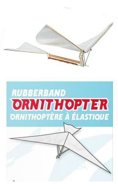 Rubberband Ornithopter Windup Flying Bird   NPW Toys   5037200009767