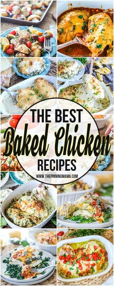 HUGE list of the best Baked Chicken Recipes- This is perfect for meal planning and meal prep!A HUGE list of the best Baked Chicken Recipes- This is perfect for meal planning and meal prep! Roast Beef Sliders, Pumpkin French Toast, Baked Strawberries, Baked Chicken Recipes, Recipe Chicken, Healthy Chicken, Chicken Meals, Chicken Rice, Chicken Casserole