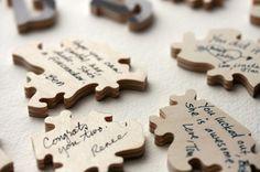 puzzle piece guest book