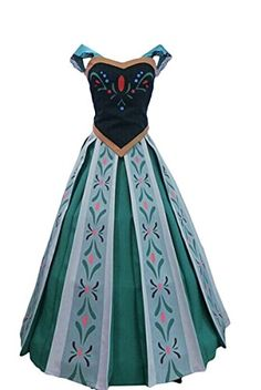 Princess Anna coronation dress from 15 Halloween costumes from classic movies  sc 1 st  Pinterest & Frozen Costumes for the Family | Disney Halloween | Pinterest ...