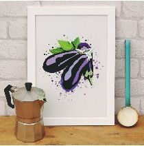 Aubergine Kitchen Print £15