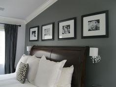 4 frames above headboard
