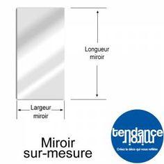 Miroir Aluminium Sur-Mesure Rectangle DIBOND = RIGIDE !!