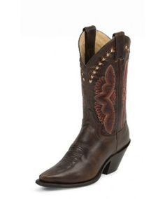 "Justin Western Fashion 11"" Testa Torino Cowgirl Boots"