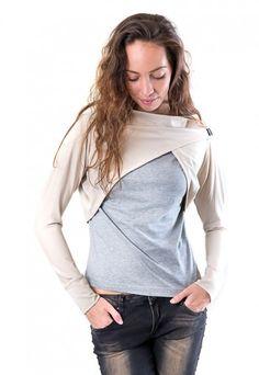 Fall by Hope on Etsy Grey Shrug, Indie, Shrugs And Boleros, Team S, High Fashion, Vest, Sweatshirt, Leather Jacket, Beige