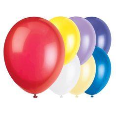 Forskellige Assorterede Farver Latex Balloner - Pakke med 100