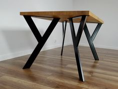 Metal Table Legs also for Round Tables. Steel Table Legs for reclaimed Wood. Iron Table Legs Sturdy Steel Dining Table Legs also for Round Tables. Iron Table Legs, Steel Table Legs, Steel Dining Table, Dining Table Legs, Wood Table, Metal Legs For Table, Simple Dining Table, Metal Tables, Kitchen Tables