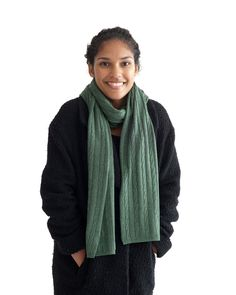Our super cozy scarf is prefect for the coming months