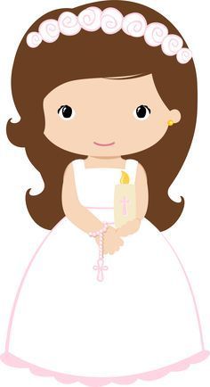 female cartoon character illustration, First Communion Child Eucharist Baptism , communion transparent background PNG clipart First Communion Banner, Première Communion, First Holy Communion, Diy Fest, Communion Decorations, Diy And Crafts, Paper Crafts, Party Co, Clip Art