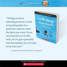 Ralph Fletcher suggests teachers infuse all aspects of the writing workshop with student choice. Writing Process, In Writing, Writing Strategies, Writer Workshop, Wise Words, Encouragement, Teacher, Student, Education