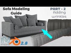 Blender Pro Sofa Modeling Guide - Part 2 Wrinkles and creases tutorial Blender 3d, Blender Models, Pencil Drawing Tutorials, Drawing Tips, Art Tutorials, Anatomy Reference, Pose Reference, Blender Tutorial, Human Figure Drawing