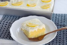 Lemon lovers, this Triple Lemon Poke Cake is for you! Soft lemon cake is soaked with lemon Jello, chilled then topped with the most gloriously fluffy lemon frosting. This all lemon dessert could not be more refreshing or delicious! Citrus Recipes, Lemon Dessert Recipes, Poke Cake Recipes, Poke Recipe, Candy Recipes, Desert Recipes, Poke Cake Jello, Poke Cakes, Cupcake Cakes
