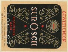 gilded embossed vintage wine label soviet russia germany 1960s