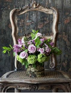 Lighter Palette--flowers only not the vase--mostly soft colors with tiny pops of darker ones