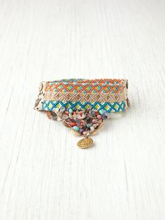 (Embroidered) Chan Luu Large Friendship Bracelet at Free People Clothing Boutique