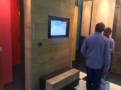 A consultation with a client on our wall cladding services Pictures from our stand at Grand Designs Live May 2015 Grand Designs Live, Wall Cladding, Flooring, Storage, Pictures, Furniture, Home Decor, Purse Storage, Photos