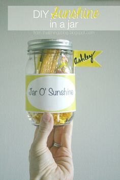 Such a fun gift idea for friends or neighbors! Just print off the label and fill with fun yellow things!