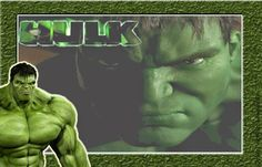 Hulk Free Printable Invitations, Frames or Cards.