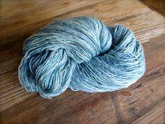 verdigris  hand dyed yarn superwash merino wool by pancakeandlulu, $18.00