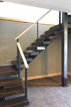 Modern Staircase Design Ideas - Modern stairs come in lots of design and styles that can be actual eye-catcher in the various location. We've assembled finest 10 modern designs of stairs that can give. Railing Design, Staircase Design, Modular Staircase, Black Staircase, Railing Ideas, Staircase Ideas, Cable Railing Systems, Glass Stairs, Glass Stair Railing