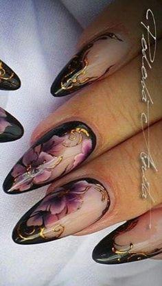 Floral nails design nailart