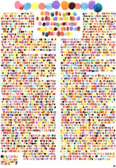 text represented by color. color corresponds to word sentiment? arthur buxton