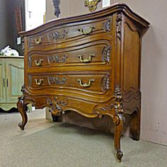 19th Century French Antique Rococo Walnut Commode