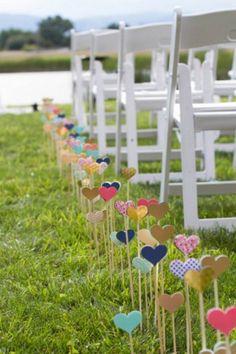 Decorating: Diy Heart Wedding Aisle Decor - 25 Cheap And Simple DIY Wedding Decorations Cheap Wedding Decorations, Ceremony Decorations, Heart Decorations, Festival Decorations, Table Decorations, Wedding Ceremony, Our Wedding, Dream Wedding, Wedding Tips