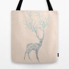 Blue Deer Tote Bag by Huebucket - $22.00