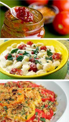 Some ideas for tomato recipes... yummy!