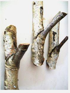 Rustic Tree Branch Hat or Coat Hooks - Ingenius