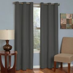 Eclipse Thermaback Microfiber Grommet Blackout Curtain Panel : Target