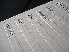 Gift Certificate idea