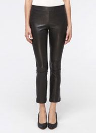 Vince Cropped Leather Leggings - I want to look like this