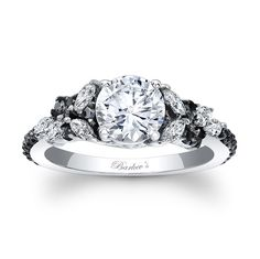 Black Diamond Engagement Ring - 7932LBKW                                                                                                                                                                                 More