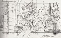 ghost in the shell animation sketch