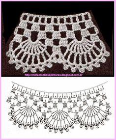 How To Crochet A Poncho: - Scarfs Crochet Crochet Boarders, Crochet Edging Patterns, Crochet Lace Edging, Crochet Diagram, Crochet Chart, Lace Patterns, Crochet Designs, Col Crochet, Crochet Collar