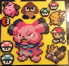 Made a Snubble to put a smile on my girlfriend. The other stuff is there so that I don't have wasted space haha. Hama Art, Pokemon Sprites, Pixel Art, Girlfriends, Haha, Arts And Crafts, Smile, Ha Ha, Art And Craft