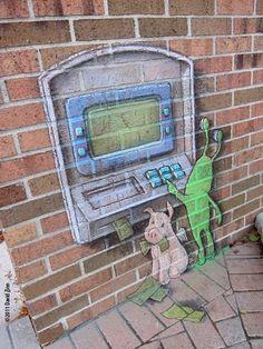 - Playful Chalk Art by David Zinn  <3 <3