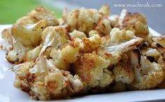•1 head of cauliflower  •Asiago grated cheese •Parmesan grated cheese •anyother Italian •Belgiosio cheese blend of choice •Italian Bread crumbs •crushed Ritz Crackers •Olive oil •salt and pepper  -Preheat to 400° -Mix all Ingredients together and Toss -Top with breadcrumbs and ritz -Cook for 25-30 mins