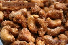 Weight Watcher Friendly Cinnamon Roasted Cashews Recipe These Cinnamon Roasted Cashews are so easy to make that your kids can make them! Cinnamon Roasted Cashews Recipe Cinnabon has always been one of my weaknesses. As I type Cinnamon Roasted Cashews Recipe, Cashew Recipes, Roasted Nuts, Snack Recipes, Cooking Recipes, Cinnamon Sugar Nuts Recipe, Yummy Recipes, Food Gifts, Gastronomia